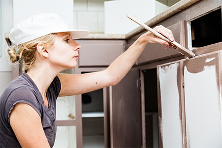Painting Kitchen Cabinets Olympia